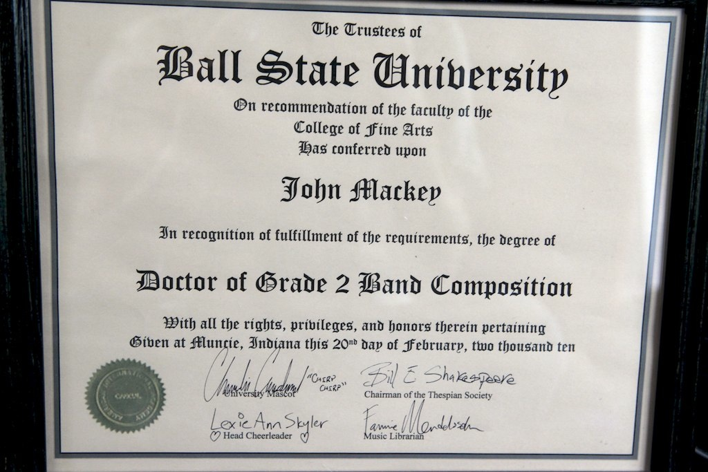 Honorary Doctorate at John Mackey's Blog